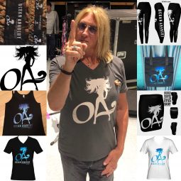 Def Leppard back on Tour 2018 Joe Elliott sports ICJUK OA Designs in NYC