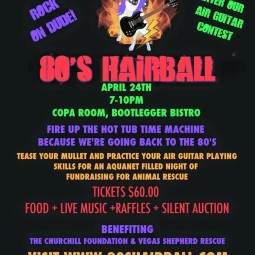 ICJUK Sponsors 80's Hairball Rescue to Benefit Las Vegas Dogs
