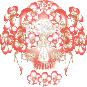 Ocean Anarchy Floral Skull