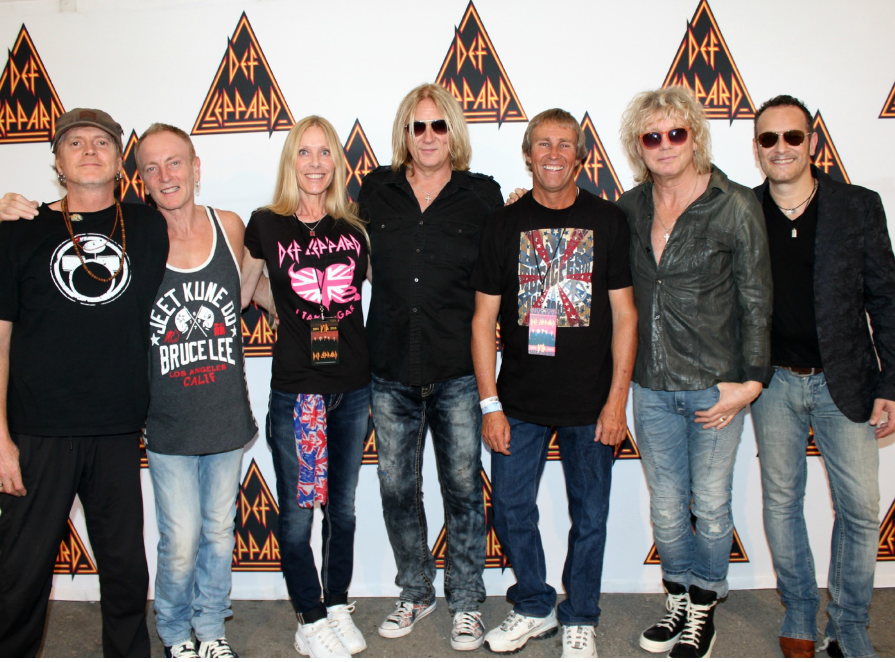Def leppard meet greets with icjuk designs jennifer mark berry in west valley city utah at the usana amphitheater on september kristyandbryce Choice Image