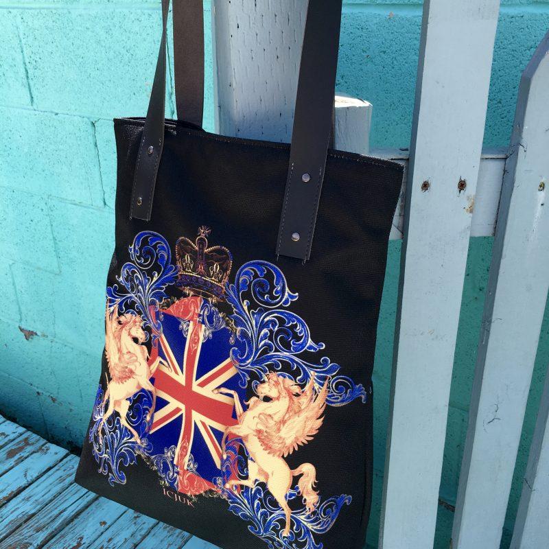 ICJUK Exclusive Custom Double sided handmade lined Vegan Tote bag