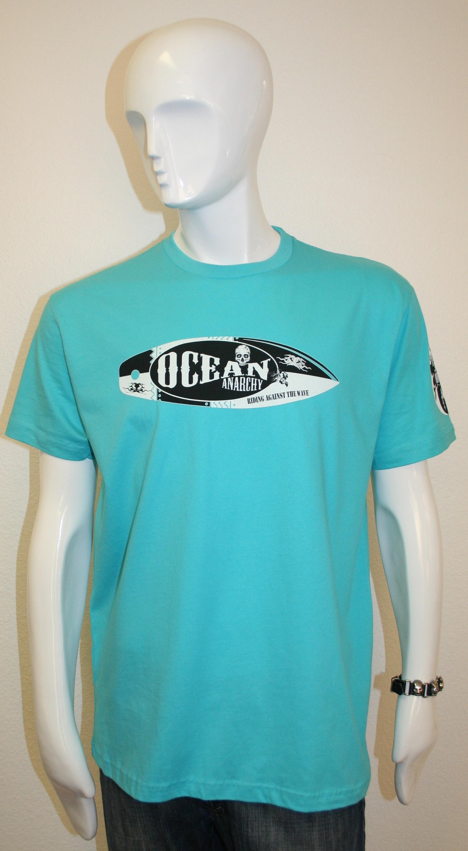 Turquoise Unisex V neck