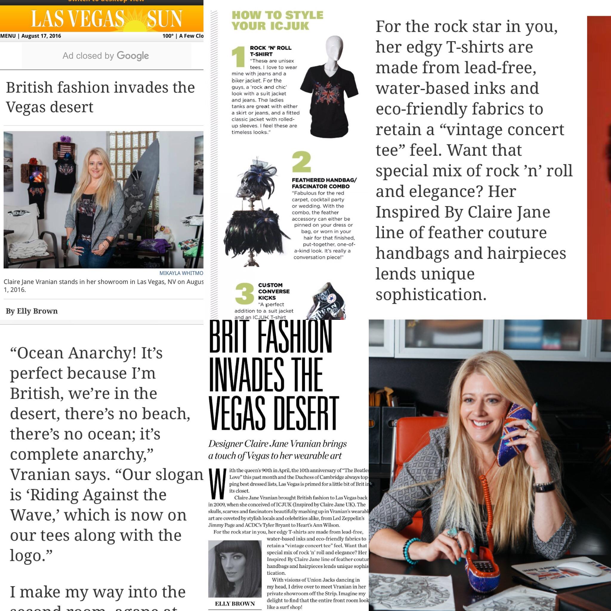 Claire Jane Press The Sun Online Aug 2016
