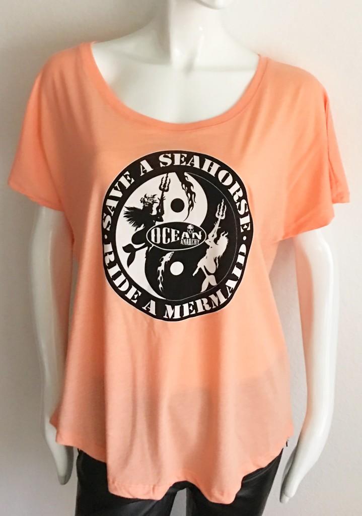 Peach Save a Seahorse, Ride a Mermaid dolman by ICJUK