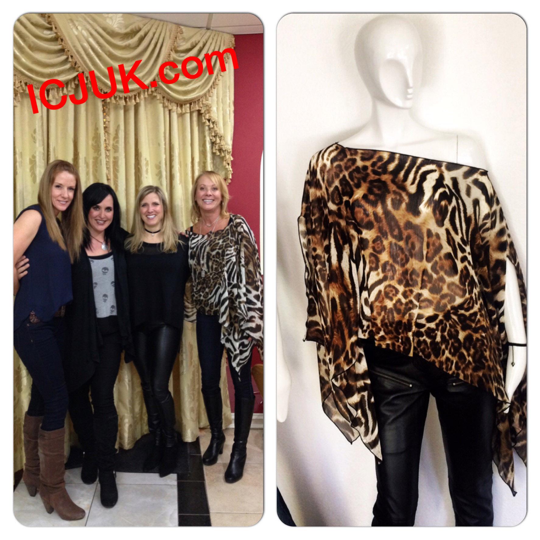 Rock ICJUK Leopard Print Top