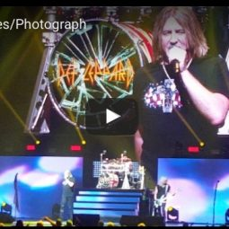 Joe Elliott of Def Leppard performing in the ICJUK USA Cross & Skull Design 2017