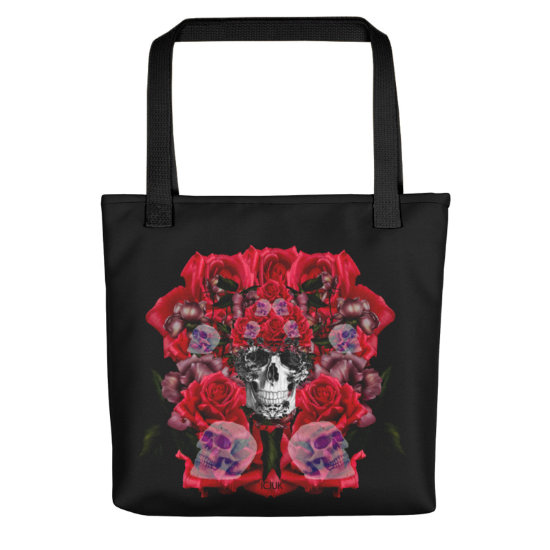 Floral Skulls and Red Roses