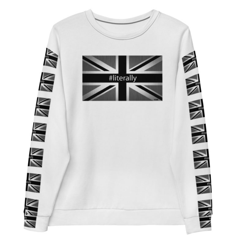 Black and White Union Jack Literally