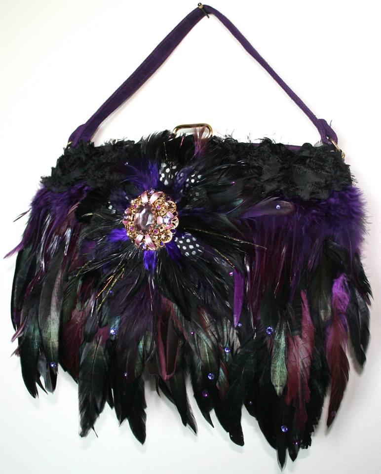 Feathered Handbag