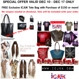FREE ICJUK Tote Bag with Purchase! $35 Value!