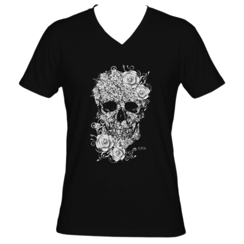 Lace Skull and Roses