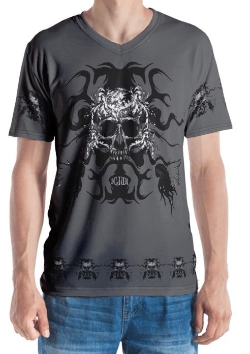 Heavy Metal Grey Skull