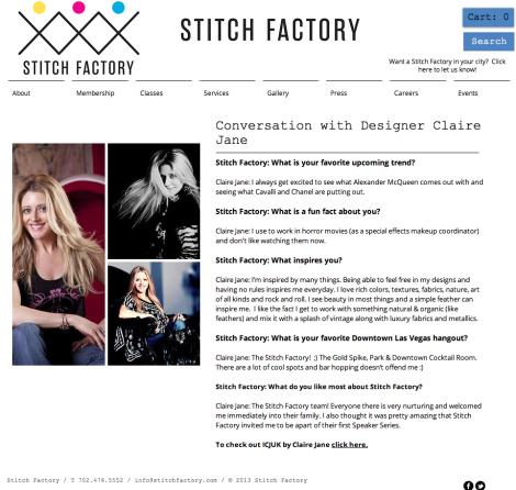 Stitch Factory Interview