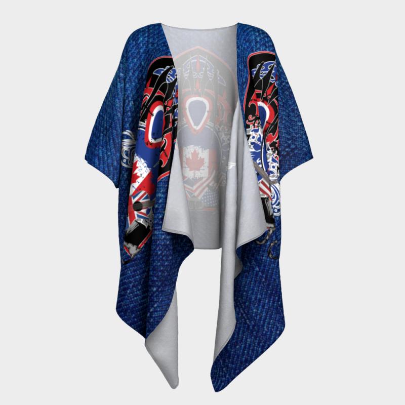 Icjuk International Guitar Open Style Kimono Lightweight