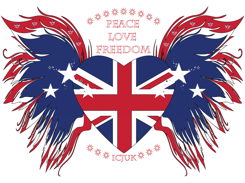 union jack heart with wings peace love freedom ladies dolman. Black Bedroom Furniture Sets. Home Design Ideas